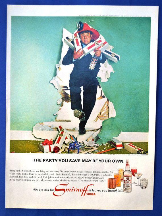 1966 Smirnoff Vodka Vintage Print Ad - Buddy Hackett - Smirnoff