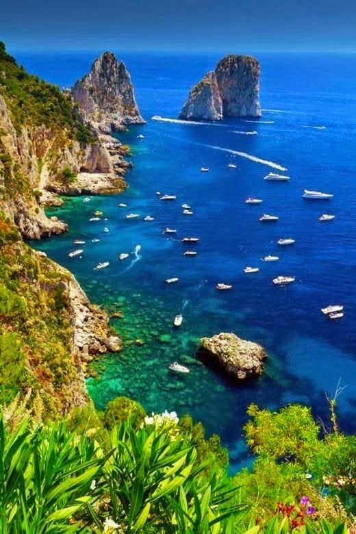 Isle of Capri, Italy.                                                       …
