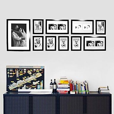 Contemporary+Gallery+Black+Collage+Wall+Picture+Frames,+Set+of+10+–+AUD+$+140.13