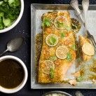 Lax asian style med broccoli, lime och cashewnötter - Recept från Mitt kök - Mitt Kök