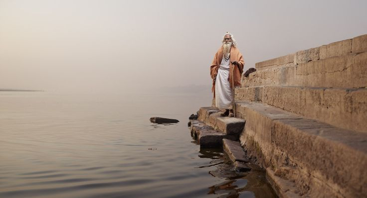 Holy Men of Varanasi, India by Joey L