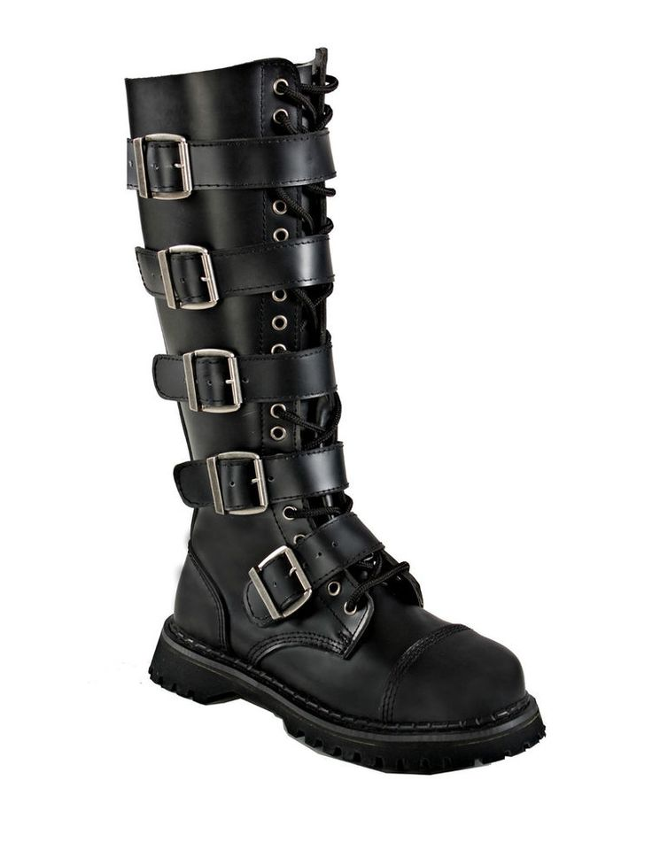 Knee High Fashion Combat Boots Lace Up