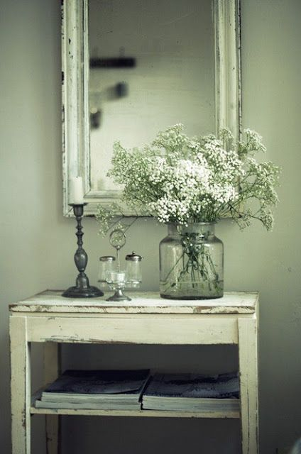 The jar with flowers...Shabby Chic Decor - http://myshabbychicdecor.com/the-jar-with-flowers-shabby-chic-decor/