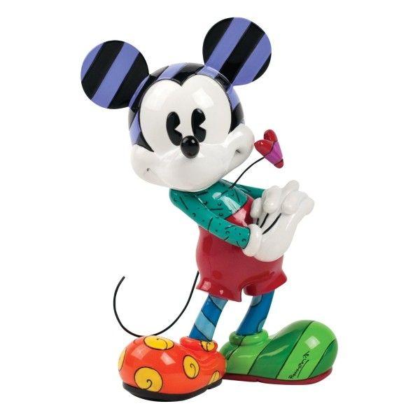 Mickey Mouse by Disney Britto Soprammobile Statuetta in Resina Dipinta a Mano Topolino da Collezione - TocTocShop.com -
