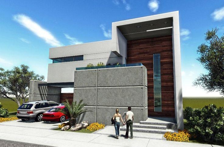 Entrada doble altura fachadas pinterest arch for Arquitectura minimalista casas