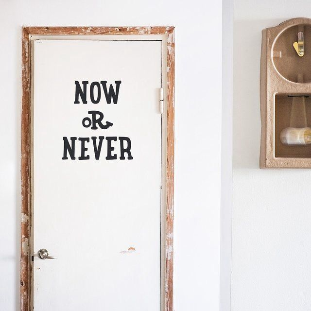 Now Or Never Wall Decal - Made Of Sundays