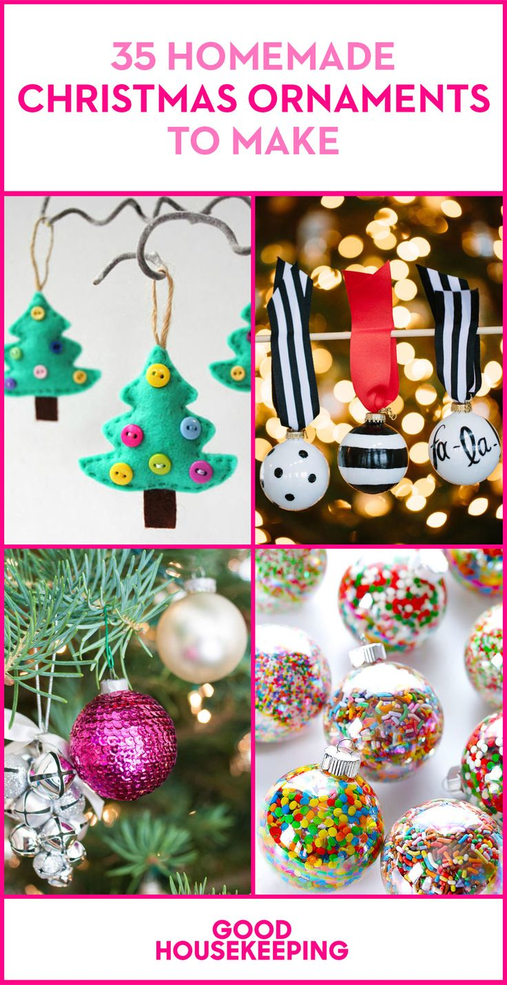 Craft your own ornaments for the Christmas tree this year.