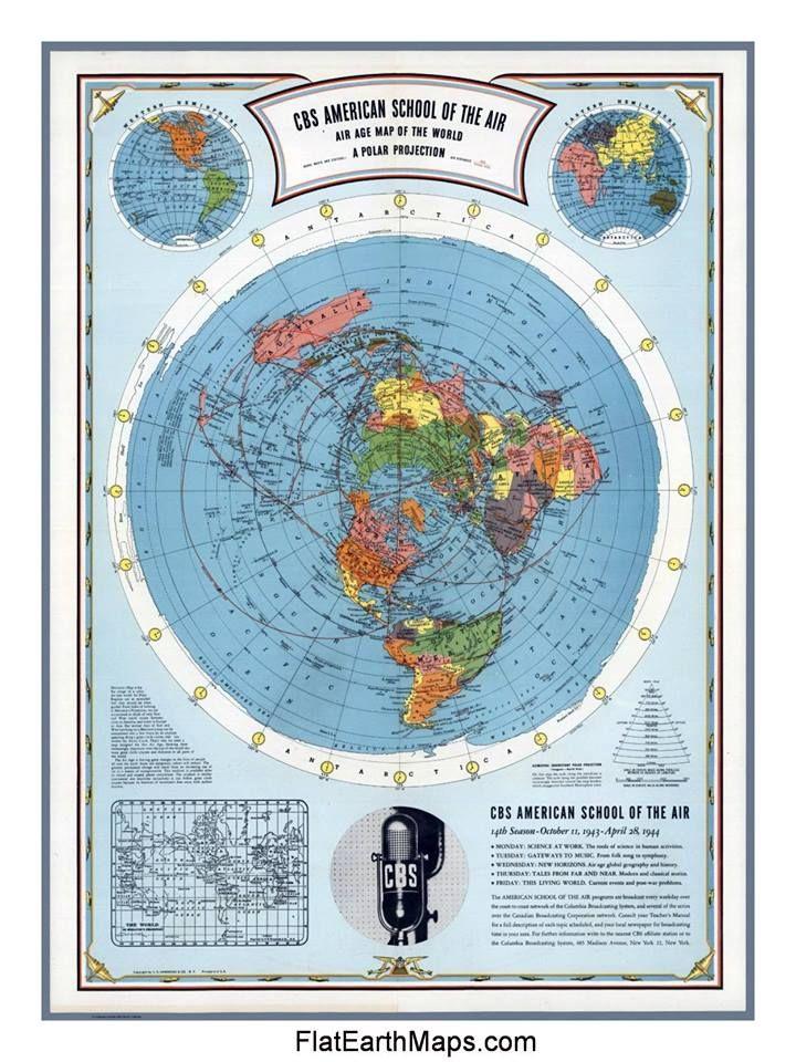 Flat Earth Map | FlatEarthMaps