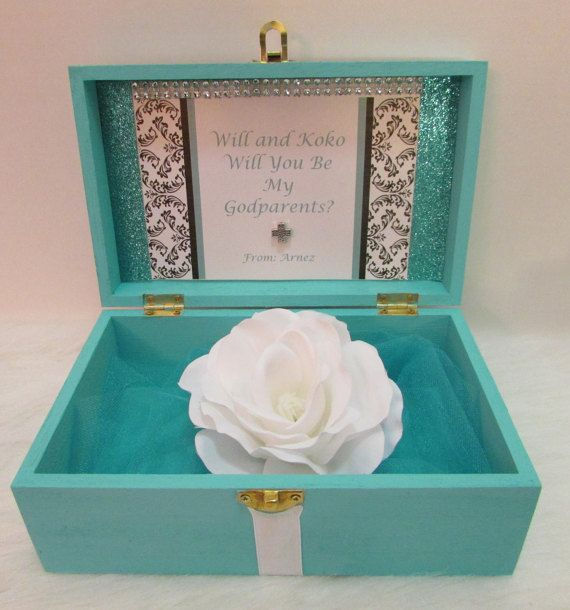 CustomWill You Be My Godparents Box GiftWill by PearlBellaGifts