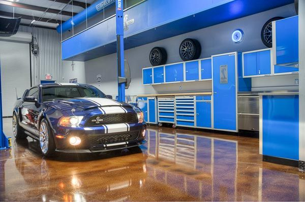 I want to do brown concrete stain like this garage.