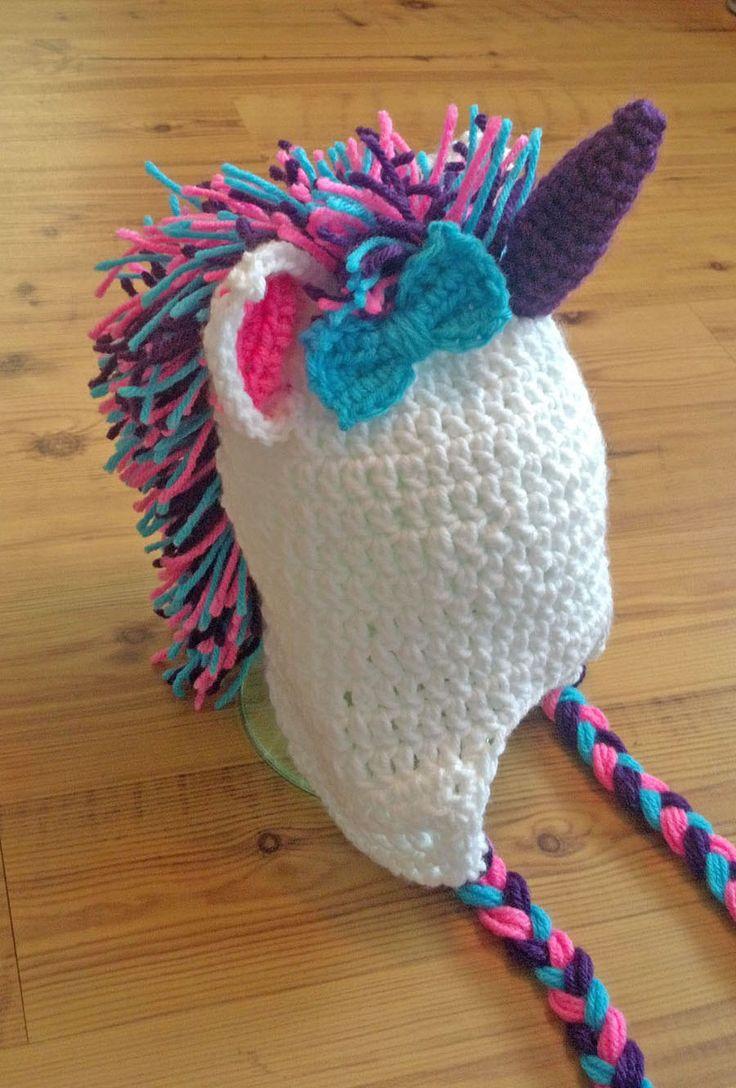 Crochet Unicorn Hat Custom Made Girls Crochet And My