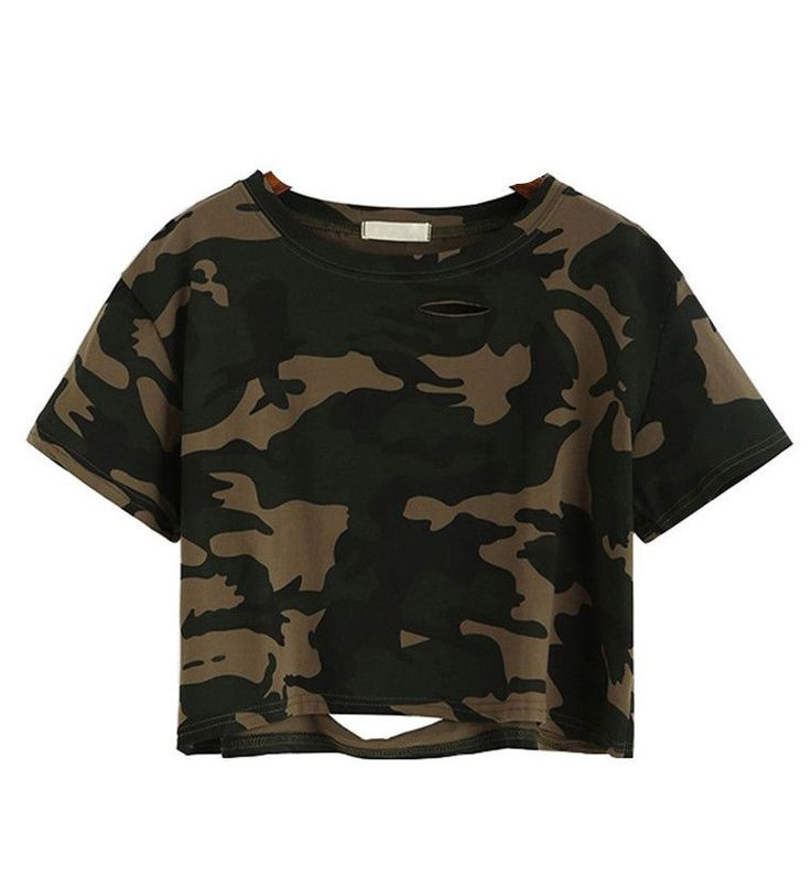 Just In Koko Camouflage D... Shop Now! http://www.shopelettra.com/products/koko-camouflage-distressed-crop-top?utm_campaign=social_autopilot&utm_source=pin&utm_medium=pin