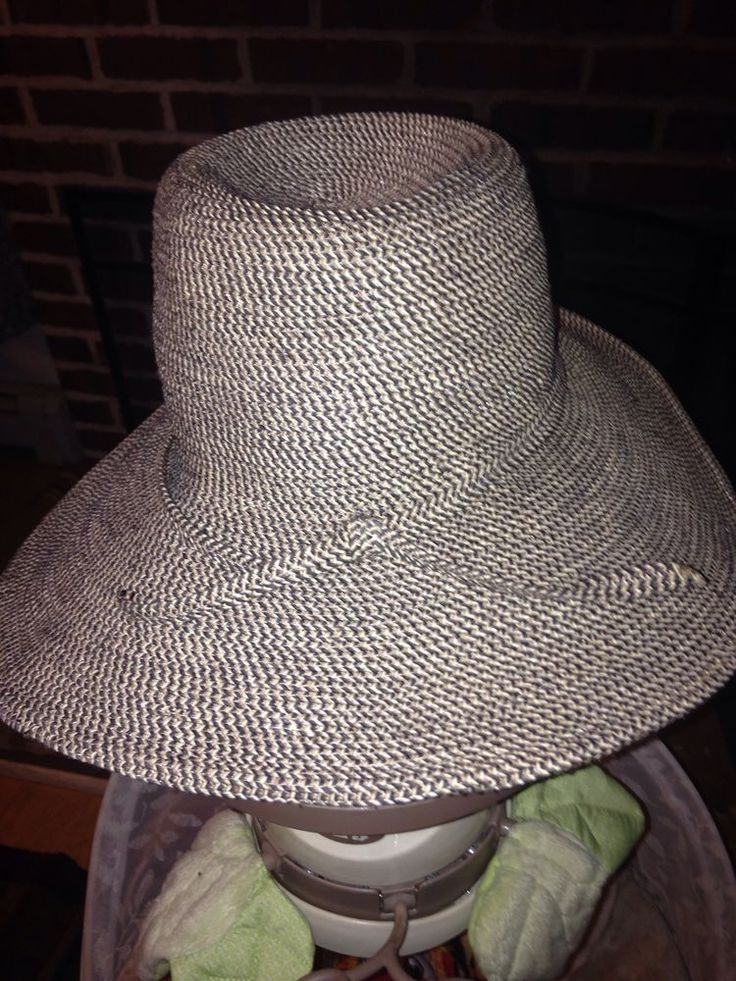 Women's Wide Rim HAT-SUNDAY AFTERNOONS Gray,Med One Size, UPF 50+ Sun Rating EUC…