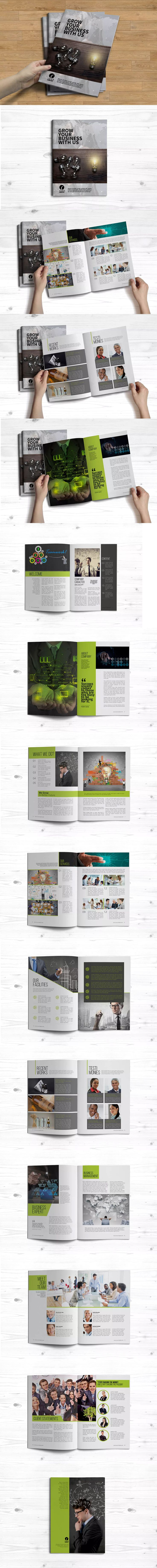 Corporate Brochure Template InDesign INDD A4 and US Letter Size