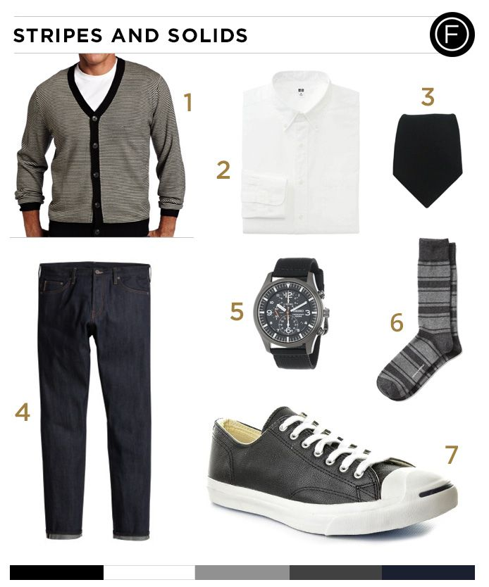 Shia LaBeouf, the star of the new box office hit, Fury, knows how to match up stripes and solids. Get the same look as LaBeouf with the daily outfit. #ShiaLaBeouf #mensfashion