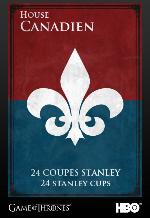 Game of Thrones: Montreal Canadiens house sigil
