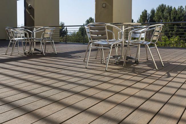 Commercial project using Eva-tech Infinity #composite decking - Standard Bank Leadership Center Midrand
