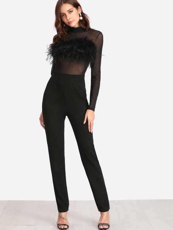Shop Faux Fur Embellished Tailored Jumpsuit online. SheIn offers Faux Fur Embellished Tailored Jumpsuit & more to fit your fashionable needs.