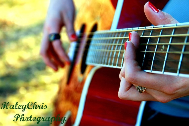 #music. My husband always played his guitar. I loved hearing him play.