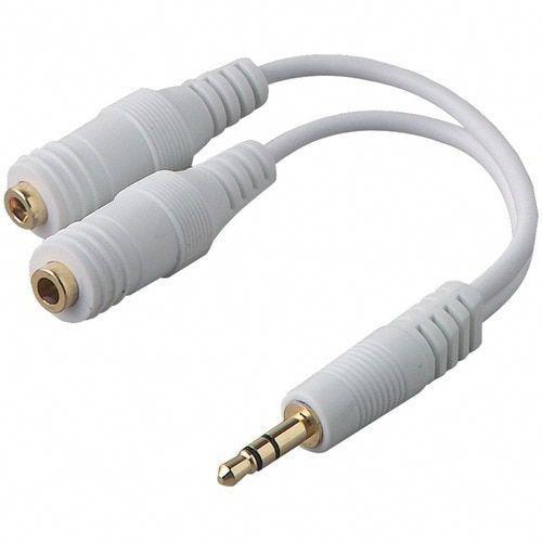 Belkin R F8v234 Wht Ipod R Speaker Headphone Splitter Homestereoinstallation Ipod Speakers Headphone