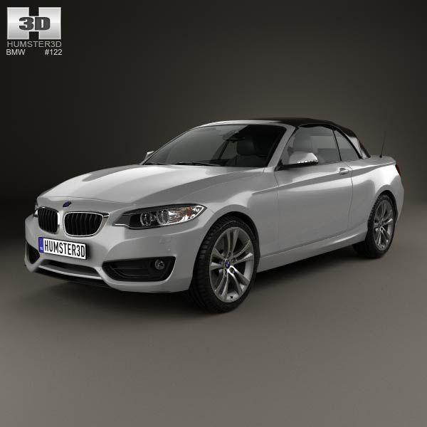 BMW 2 Series Convertible 2014 3d Model From Humster3d.com. Price: $75