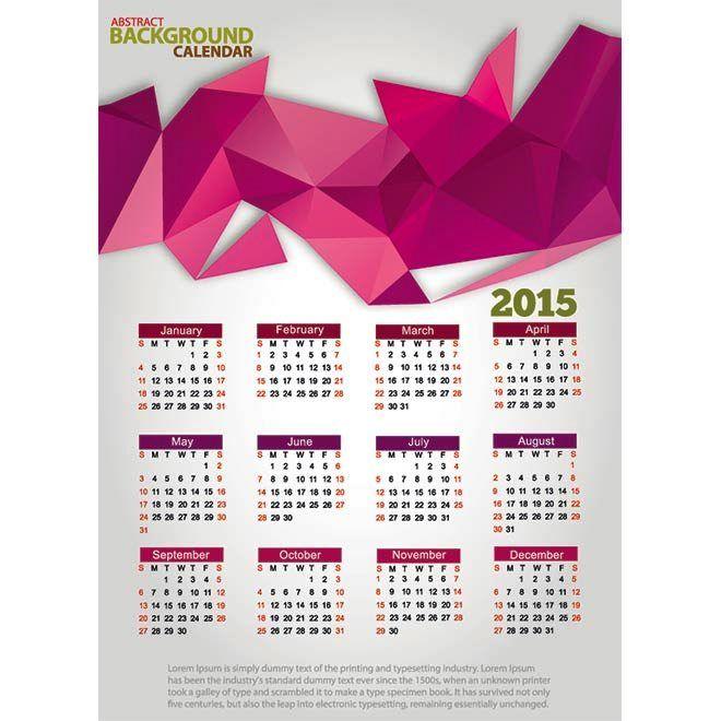 75 Kalender 2015 Desain Unik Jpg Printable dan Template Free