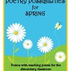 20 poems about spring weather, holidays, & activities.  Each poem has custom teaching points, skill lessons, and activities.  $
