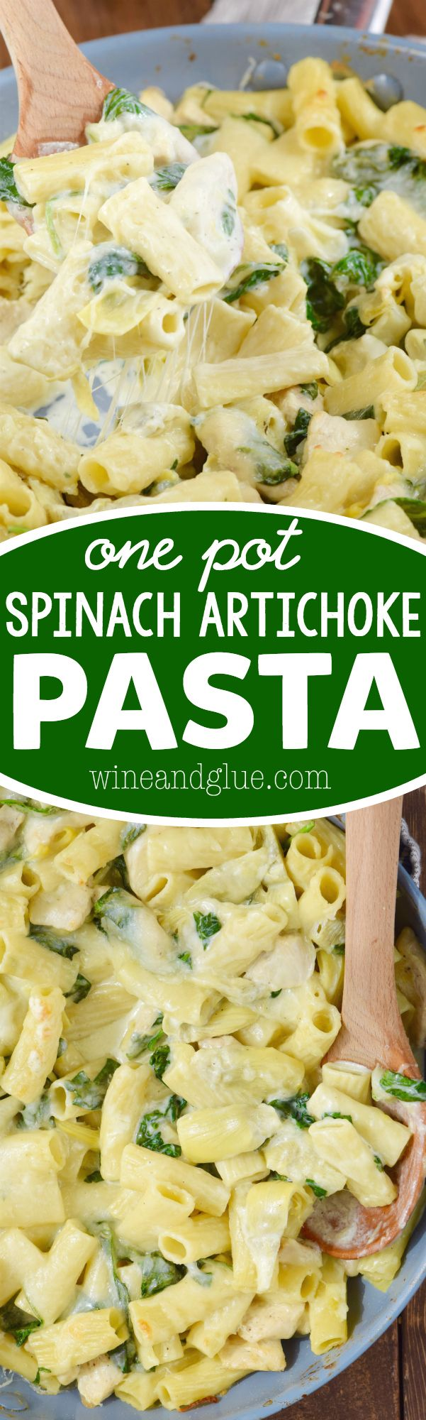 This One Pot Spinach Artichoke Pasta is super easy to throw together and full…