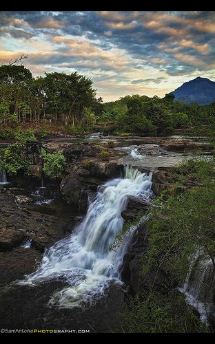 Tad Hang Waterfall in Tad Lo, Bolaven Plateau, Champasak, Laos, South-East Asia, Asia.