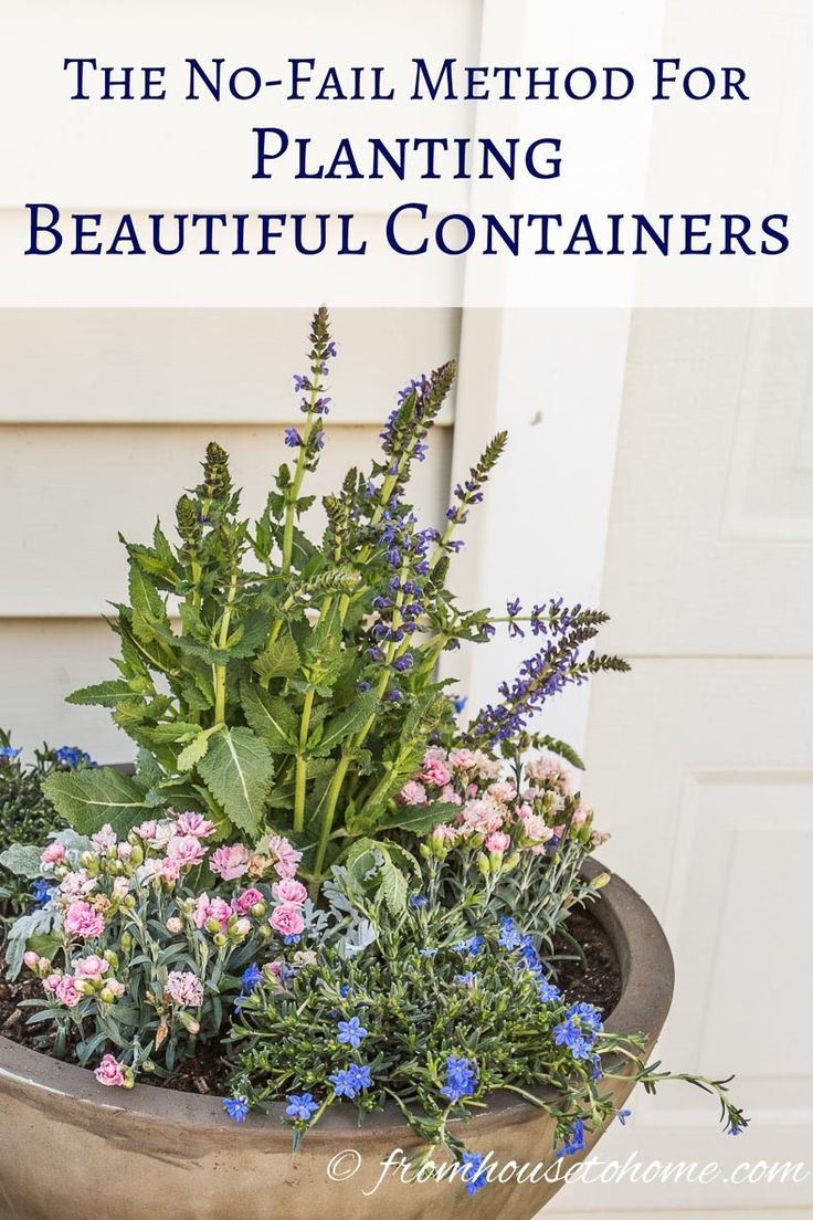 The No-Fail Method For Planting Beautiful Containers   I use this formula to plant all of my outdoor containers. It never fails to produce beautiful planters that are easy to create.