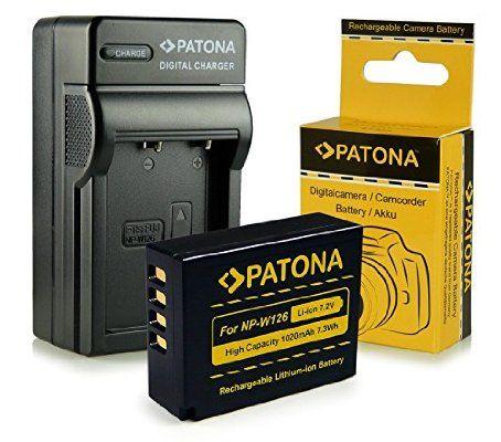 Chargeur + Batterie NP-W126 pour FujiFilm FinePix X-Pro 1 | HS30 EXR | HS30EXR | HS-30EXR | HS33 EXR | HS33EXR | HS-33EXR | HS50EXR | X-E1 | X-M1
