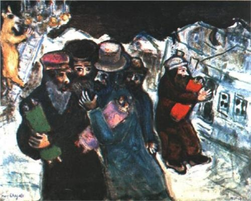 Return from the Synagogue - Marc Chagall