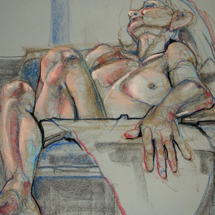 Nude in chalk pastel. Cropped 20x30 Kathryn Kaiser - http://verityblue.com #drawing #sketch #art #portrait #studio #lifedrawing