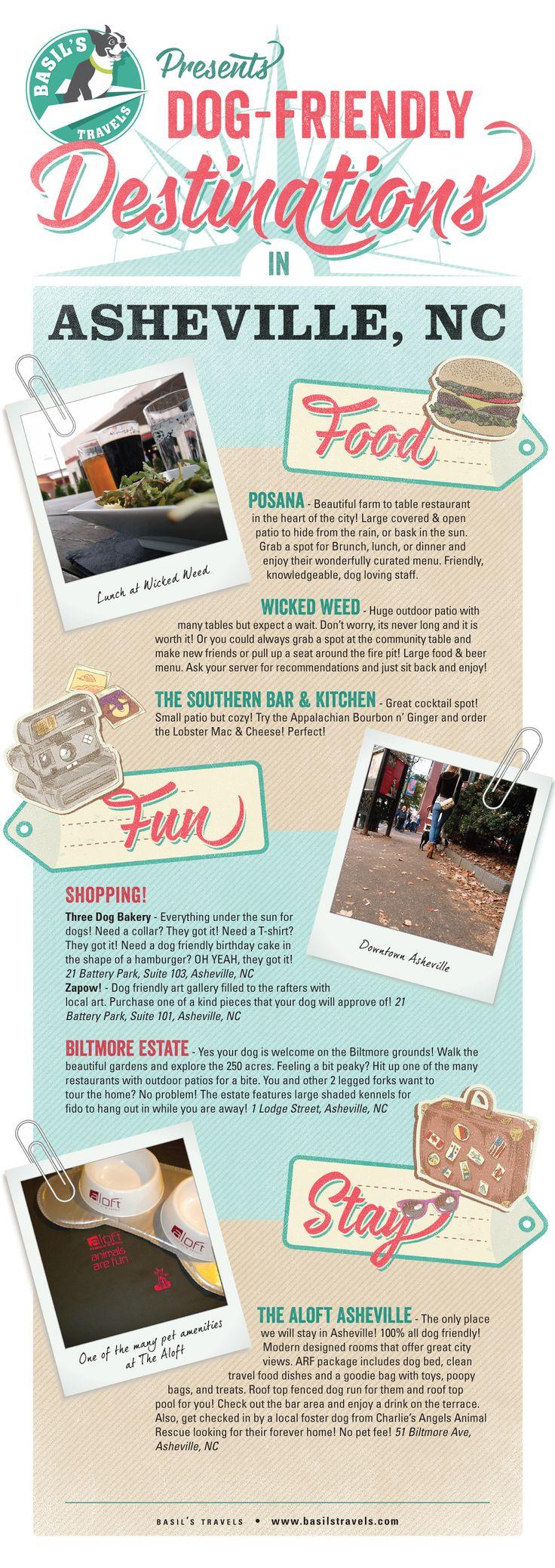 Travel Poster | Dog Friendly Asheville, NC | Basil's Travels