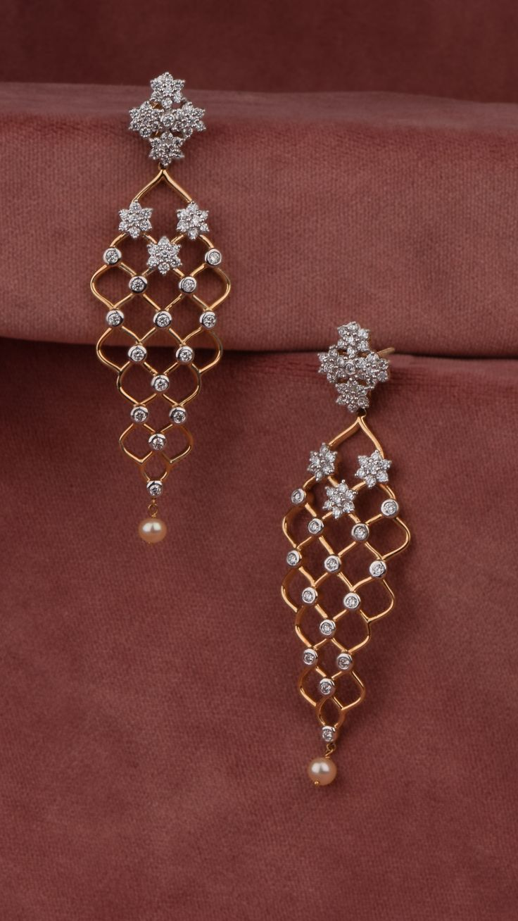 AZVA diamond earrings in 18k gold