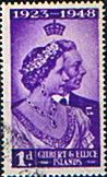 Gilbert and Ellice Islands King George VI Royal Silver Wedding Set Fine Mint SG 57 8 Scott 54 55 Yvert 52 3 Michel 52 3 More British Commonwealth Empire and Colonial Stamps Here