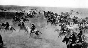 """The Oklahoma Land Rush of 1889. The rush began at """"high noon on April 22,1889,"""" and over 50,000 people came to claim their land! In May of the same year, the land they claimed officially became Oklahoma territory.   Come see our exhibit about the first Edmond settlers at the Edmond Historical Society and Museum!"""