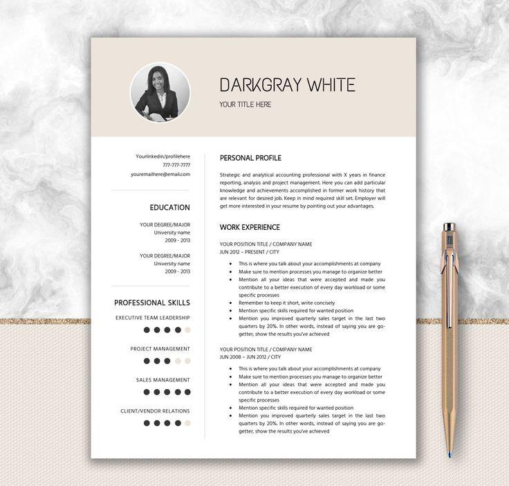 42 best Stationery \/ Letterhead images on Pinterest Resume - elegant resume templates