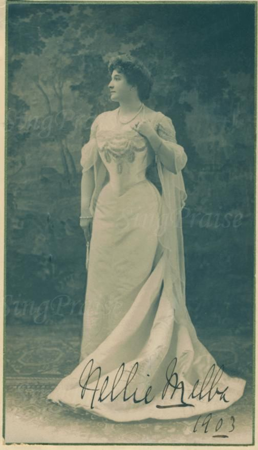 """Nellie Melba, World Renowned Soprano"" 1903 Autographed Photograph! ""Nellie Melba, World Renowned Soprano"" In her lifetime, Dame Nellie Melba achieved international recognition as a soprano and enjoyed an unrivalled 'super-star' status within Australia. ."
