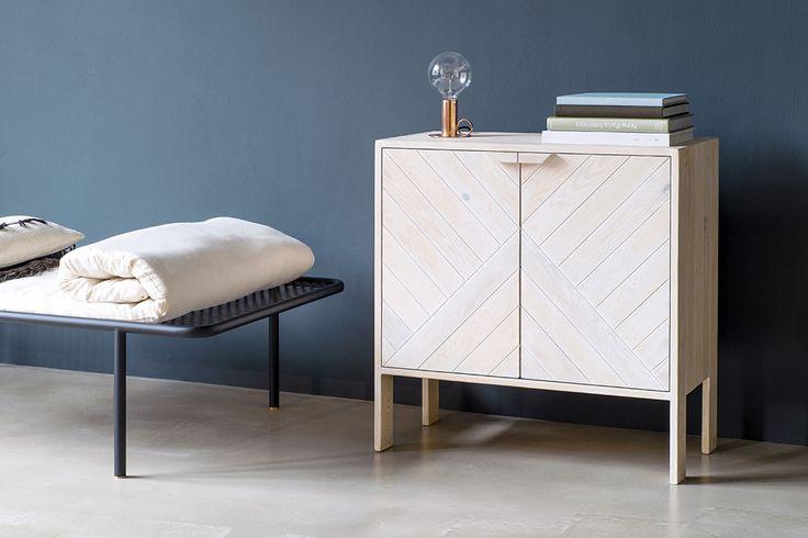 Cabinet made of used pallet wood, design by Daniel Becker Design Studio Berlin