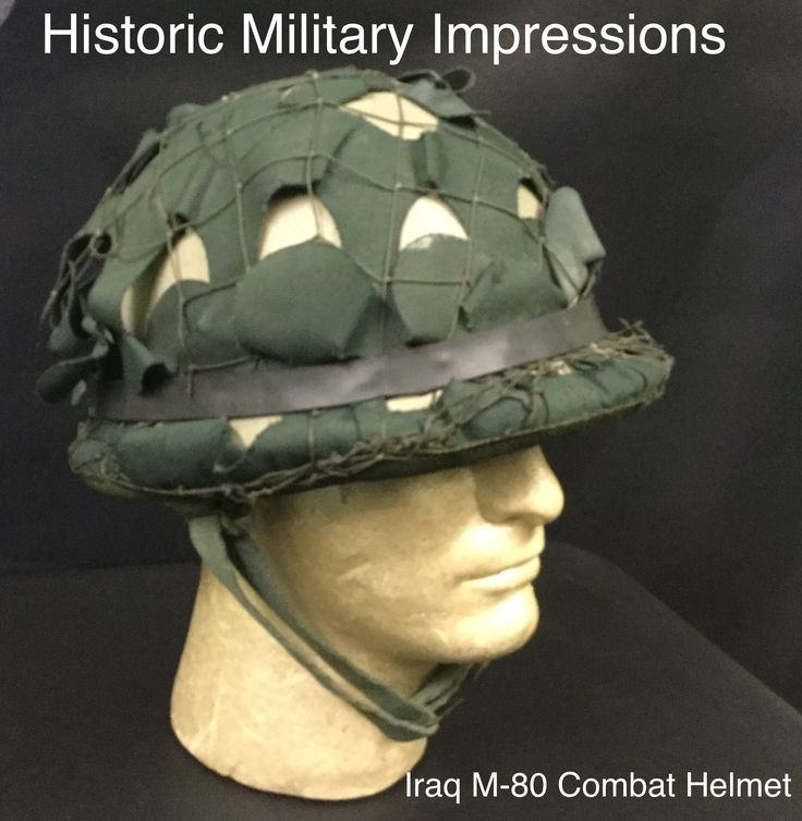 New addition into the collection.    Yesterday we added this is a Iraq M-80 Combat helmet with cover, this one was made in Iraq not in South Korea.