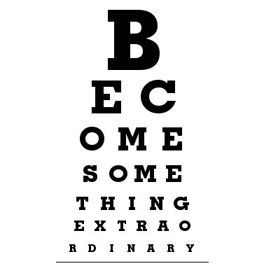 How fun is this?! DIY Eye Chart canvas