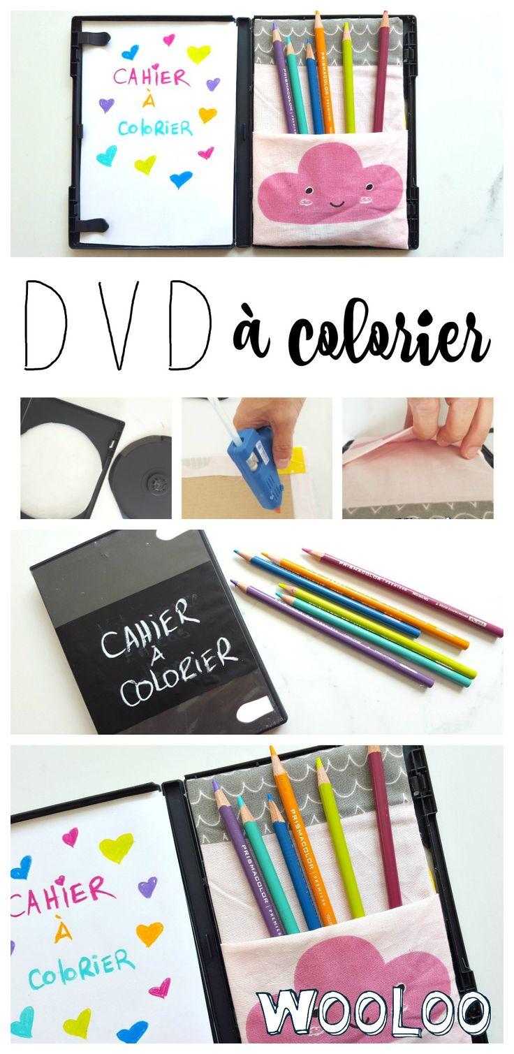 N'ayez que le nécessaire pour divertir les enfants avec ce DVD à colorier DIY #vacances #jeuxdevoiture