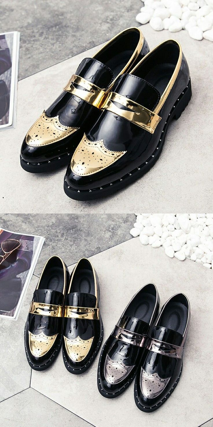 US $ Prelesty Men Formal Shoes Patent Leather Brogue Dress Party Office Oxford - http://sorihe.com/mensshoes/2018/03/04/us-prelesty-men-formal-shoes-patent-leather-brogue-dress-party-office-oxford/