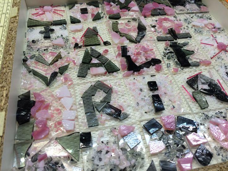 Taufgeschenk: WünscheSchale für VALERIA in rosa, grau und silberglitzer von den Taufgästen für den Täufling gestaltet!