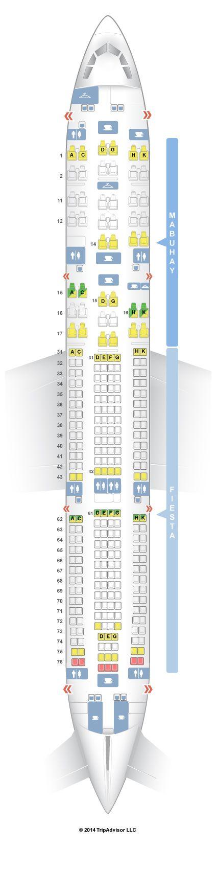 Seatguru Seat Map Philippine Airlines Airbus A340 300 343 V1