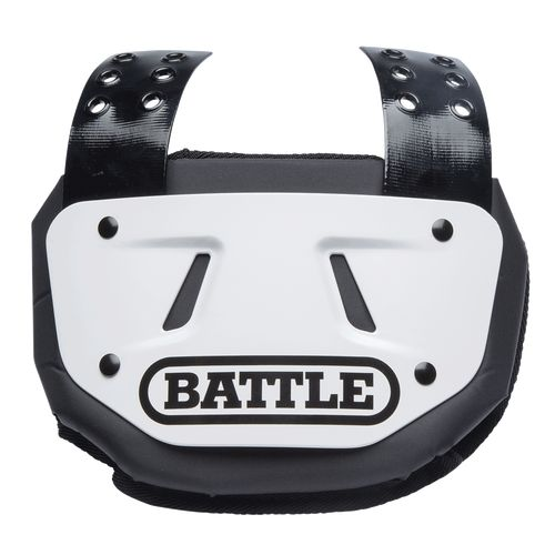 Battle Football Back Plate White Adult