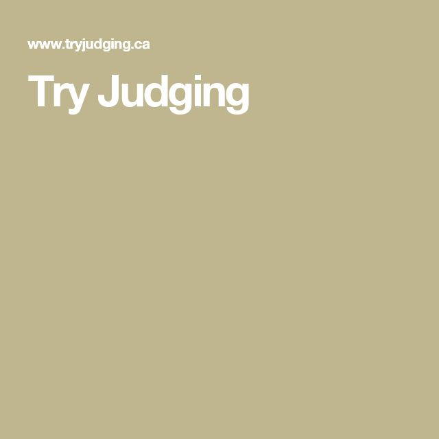 Try Judging