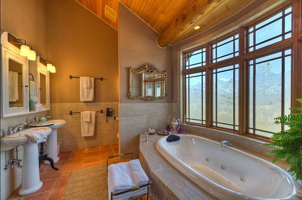 log-private-lake-house2  Five-bedroom, five-bath residence near Whitefish Lake for sale