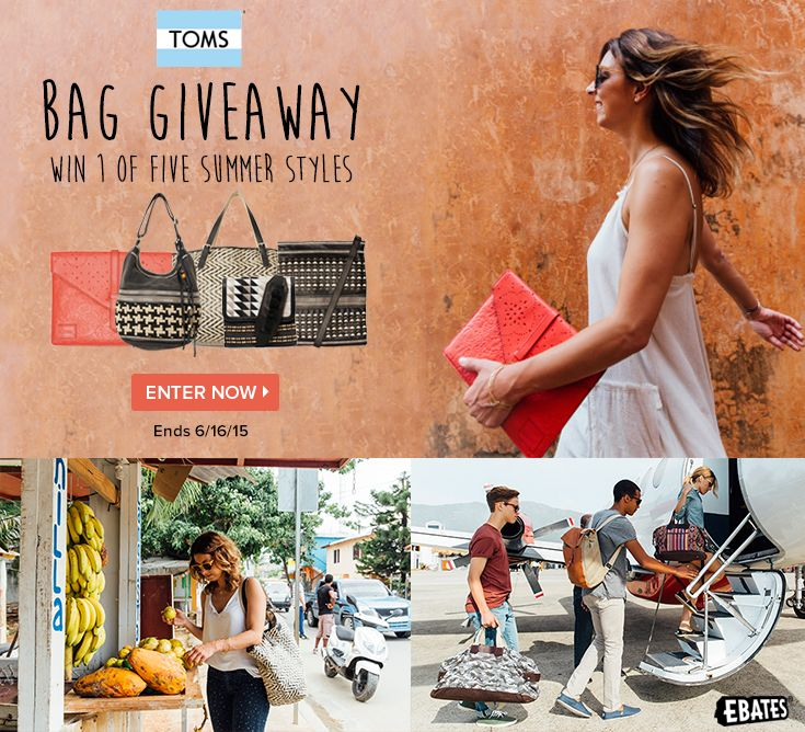 TOMS new bags are more than trendy. Each bag helps save a life. Join the TOMS movement and enter to win one of 10 TOMS bags. One for One®.